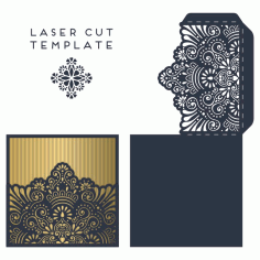 Invitation Card Template Laser Cut CDR File