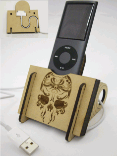 IPod Dock Mobile Holder Stand DXF File