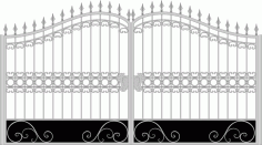 Iron Fancy Gate Boundary Wall Gate Design Laser Cut CDR File