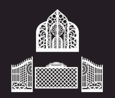 Iron Gate Grill Design CDR Vectors File