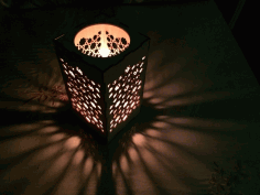 Islamic Candle Lamp Lantern Template Laser Cut DXF File