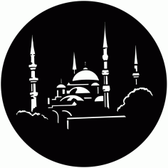 Islamic Wall Art Mosque Laser Cut Free CDR File