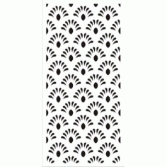 Jali Design Flourishing Floral Design Pattern Free DXF File