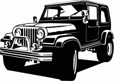 Jeep 4×4 Free CDR Vectors File