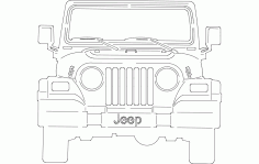 Jeep Front Laser Cut DXF File