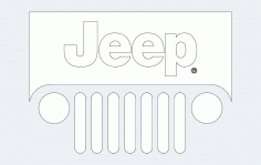 Jeep Front Side Free DXF Vectors File