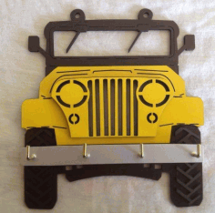 Jeep House Keeper Laser Cut Free CDR File