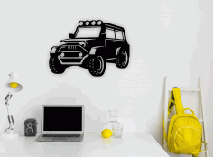 Jeep Wall Art Laser Cut CDR File