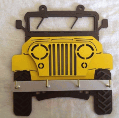 Jeep Wall Hanging CNC CDR File