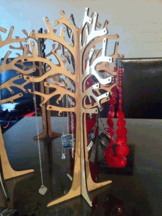 Jewelry Tree Laser Cut DXF File
