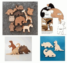 Jigsaw Puzzle Toys Laser Cut CDR File