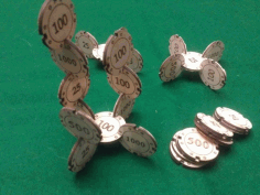 Joinable Poker Chips DXF File