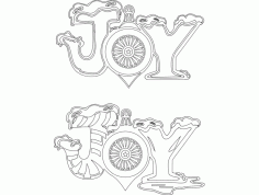JOY Holiday Attraction Festive Stuff DXF File