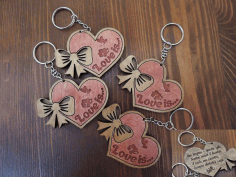 Keychains for Your Loved ones Laser Cut Free CDR File