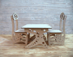 Kids Furniture CNC Laser Cutting Free CDR File