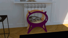 Kitten Cat House Cat Bed Pet House Laser Cut CDR File