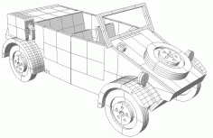 Kubelwagen Vector for laser cutting CNC Free CDR Vectors File