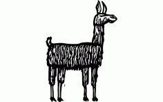 Lama Animal Free DXF Vectors File