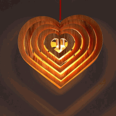 Lamp Fiery Heart Danko Laser Cut Design CDR File