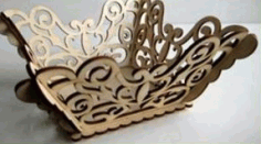 Laser CNC Cutting Fruit Tray DXF File