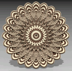 Laser Cut 3D Layered Mandala Ornament CDR File
