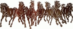Laser Cut 7 Horse Free CDR File