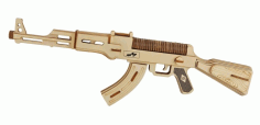 Laser Cut Ak47 Gun Laser Cut CDR File