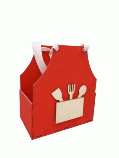 Laser Cut Apron Shaped Gift Box Mothers Day Treat Box Free Vector CDR File