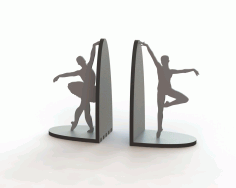 Laser Cut Ballerina Pair Book Supports Free Download Vector CDR File