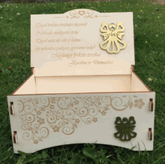 Laser Cut Beautiful Wooden Gift Box CDR File