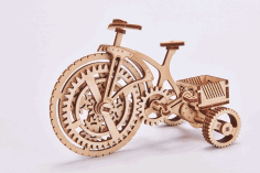 Laser Cut Bicycle Puzzle CDR File
