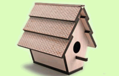 Laser Cut Bird House CDR File