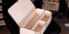 Laser Cut Box folding lid DXF File