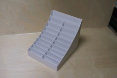 Laser Cut Business Card Organizer Display Stand CDR File