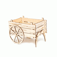 Laser Cut Carriage Cart Flower Basket Box Template Free CDR Vectors File