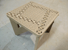 Laser Cut CNC Binary Tree Foot Stool Router Plans CDR File