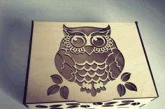 Laser Cut CNC Project Owl Box CDR File