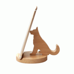 Laser Cut Cute Dog Phone Holder Animal Desk Phone Stand CDR File