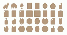 Laser Cut Cutting Board Designs Free Vector CDR File