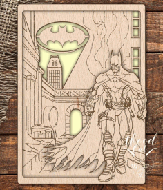 Laser Cut Dark Knight Batman Template CDR File