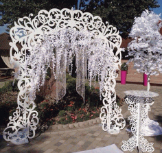 Laser Cut Decor Art Decorative DIY Wedding Arch and Table CDR Vectors File