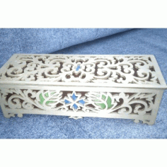 Laser Cut Decorative Box with Lid Template CDR File