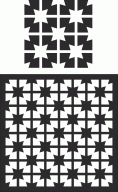 Laser Cut Decorative Screen Pattern Free CDR Vectors File