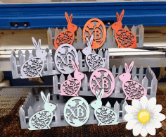 Laser Cut Diy Picket Fence Easter Basket Easy Easter Gift Basket Free CDR Vectors File
