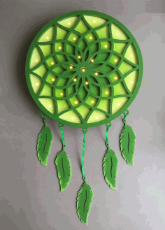 Laser Cut Dreamcatcher Wall Art Motif DXF File