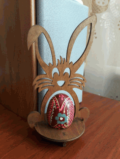 Laser Cut Easter Bunny Egg Holder Free CDR Vectors File