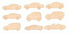 Laser Cut Engraving Auto Vehicles Cars Free CDR Vectors File