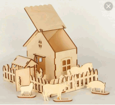 Laser Cut Farm House CDR File