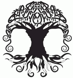 Laser Cut Files Family Tree Silhouette 11 Free Free Design DXF Vectors File
