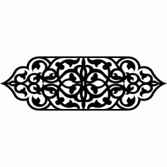 Laser Cut Floral Drawing Pattern Design Free Vector DXF File